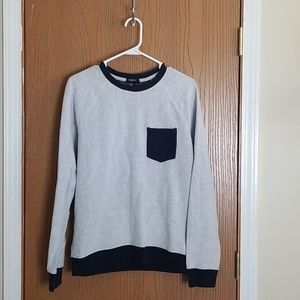 Forever 21 Gray Crewneck Ribbed Sweater Medium